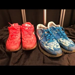 2 pair size 9 Nike air max!!!! Gently worn